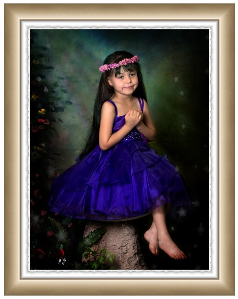 deckle edge fairy portrait in frame