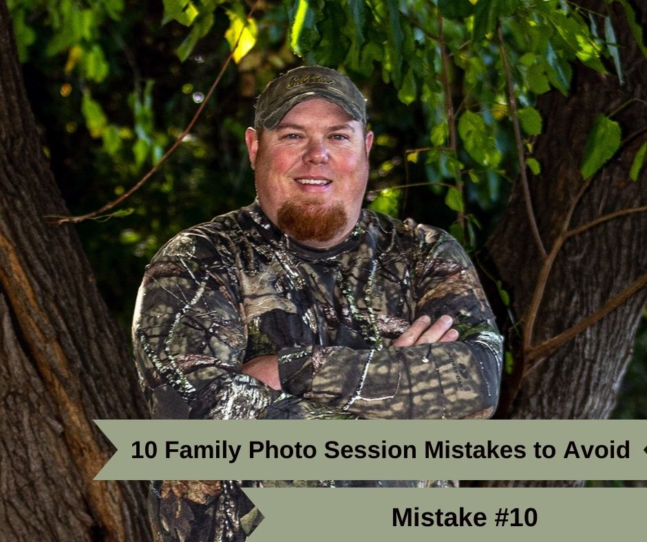 Mistake #10. Getting too worked up during your family photo session