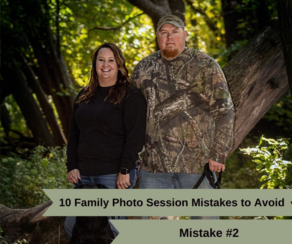 Mistake #2. Not leaving enough time to get yourself ready for your family photo session