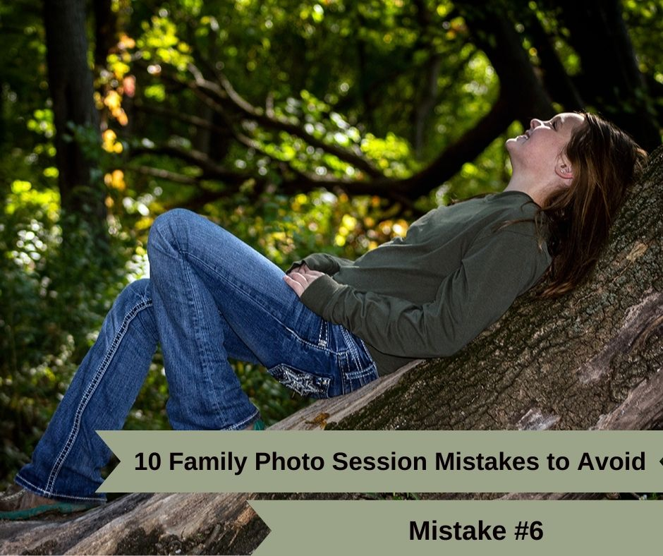 Mistake 6: Don't wear this to your family photo shoot