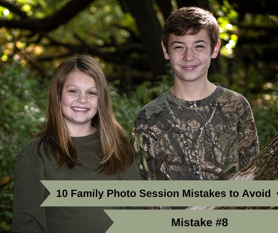 #8. Forgetting touch-ups during your family photo session