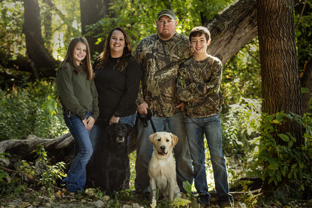 Outdoor Family Photo Session with dogs